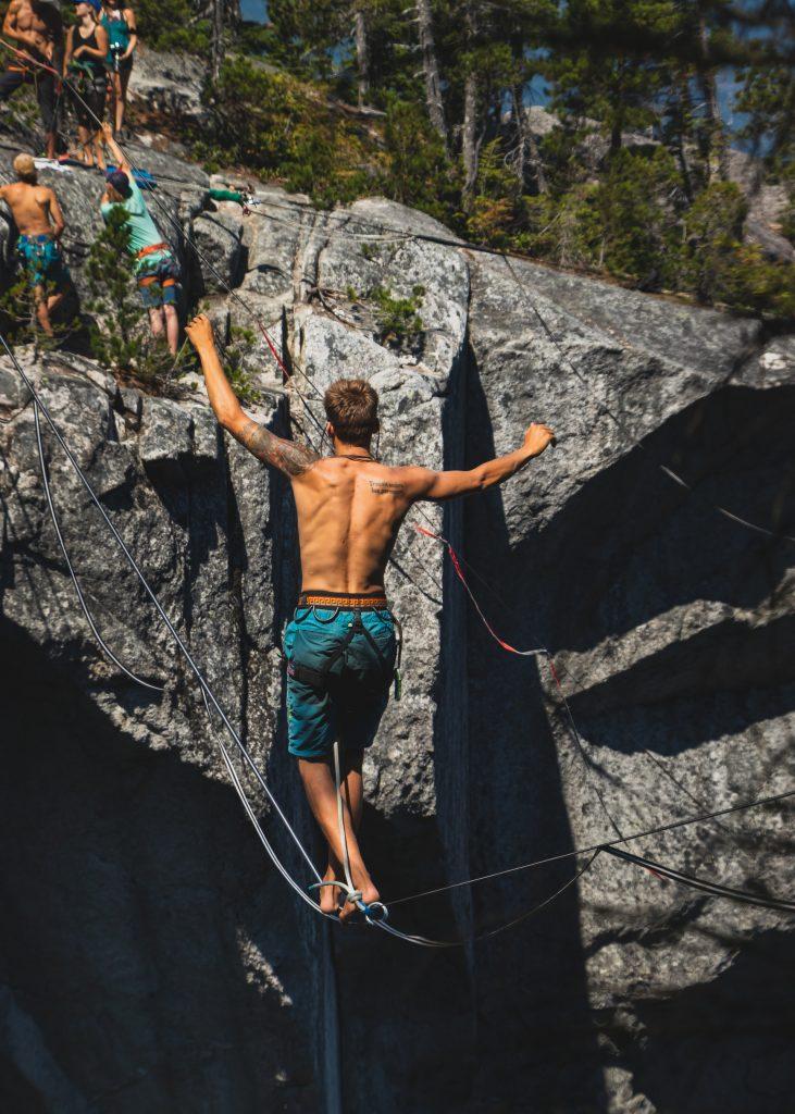 Barefoot Rock Climbing